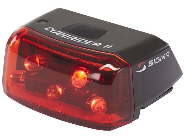 SIGMA SPORT Cuberider II LED Rückleuchte schwarz/rot
